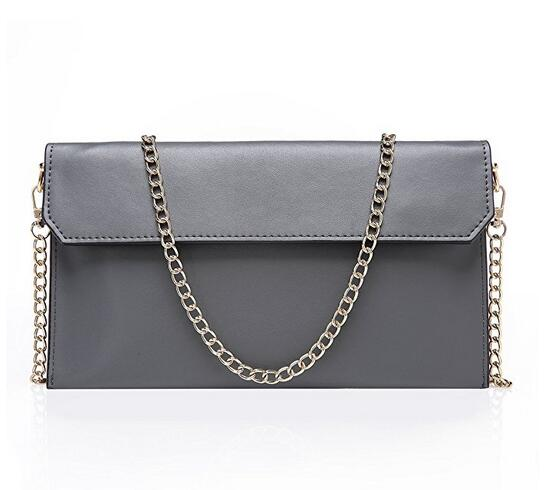 Women's Genuine Leather Evening Envelope Clutches Handbags Shoulder Bag