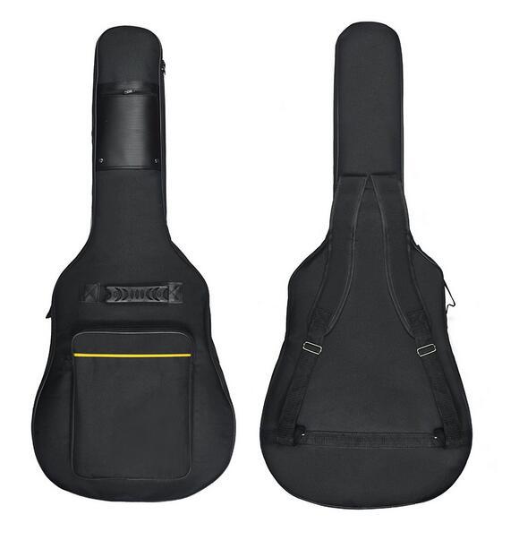 41 Inch Dual Adjustable Shoulder Strap Acoustic Guitar Gig Bag - Black